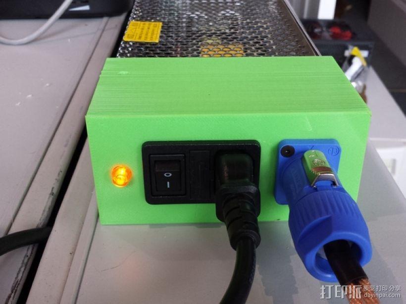 电源盒 保护外壳 3D模型  图1