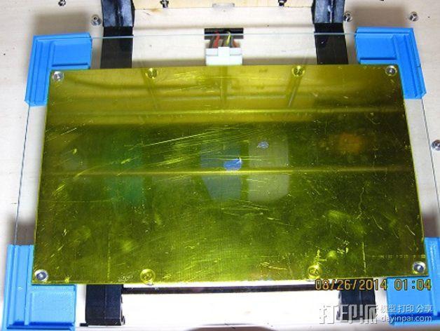打印机打印床框架 3D模型  图1