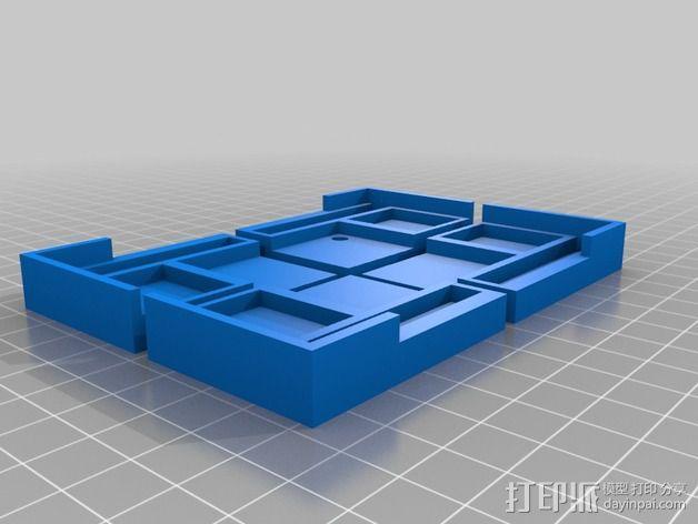 打印机打印床框架 3D模型  图3