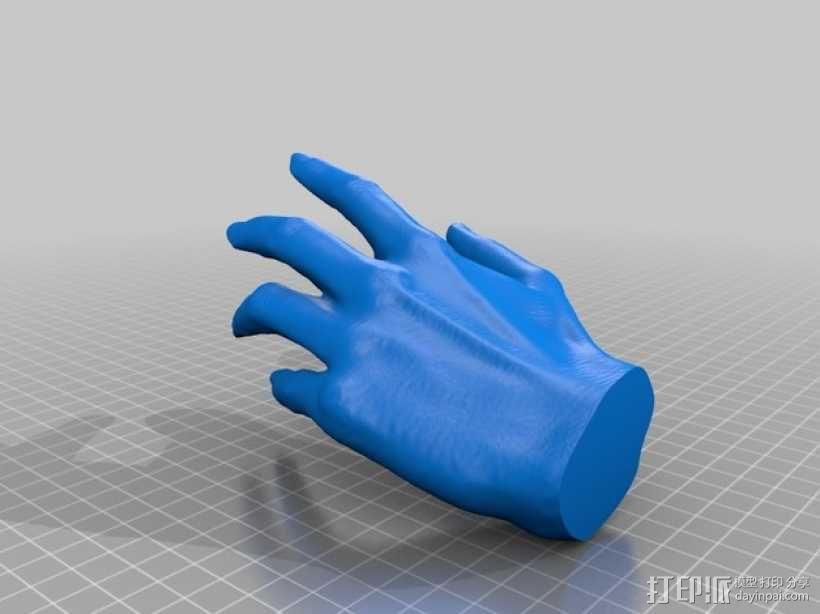 低面数 手模型 3D模型  图3