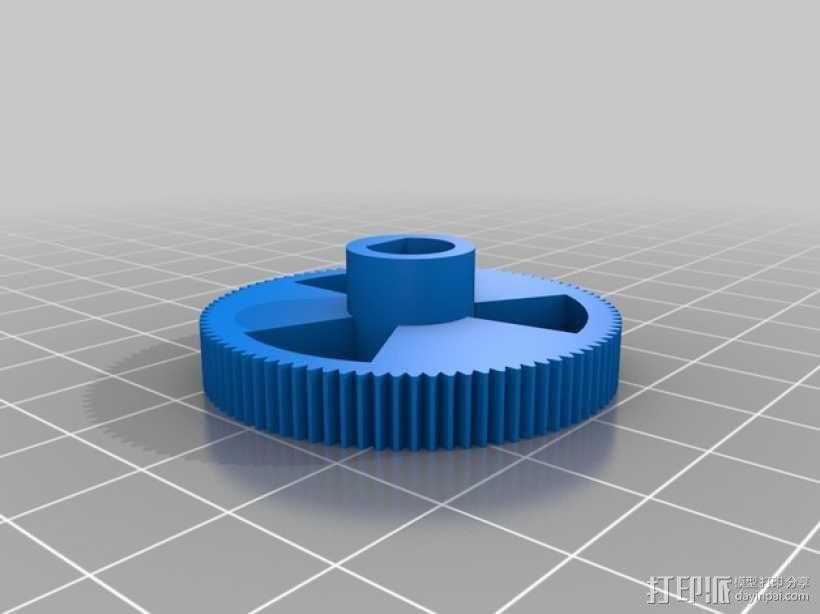 Nema 17齿轮挤出机 3D模型  图4