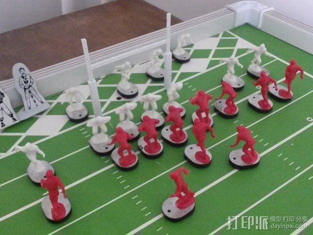 足球游戏门柱 3D模型  图1