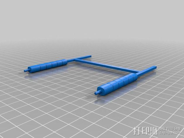 足球游戏门柱 3D模型  图2