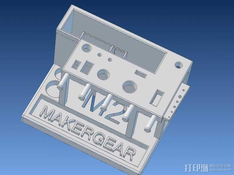 Makergear M2 打印机工具架 3D模型  图1