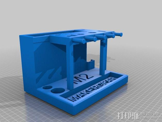 Makergear M2 打印机工具架 3D模型  图2