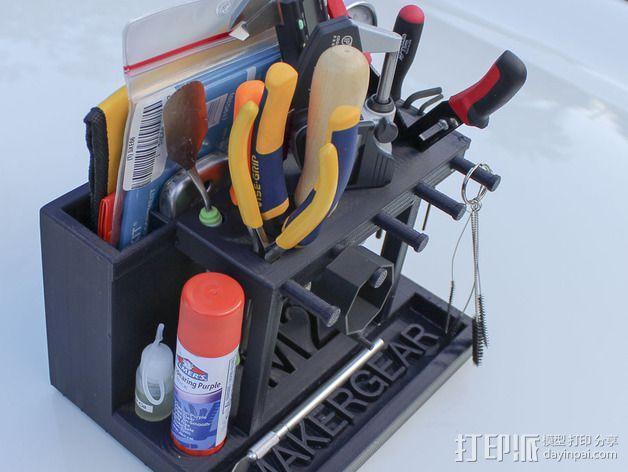 Makergear M2 打印机工具架 3D模型  图5