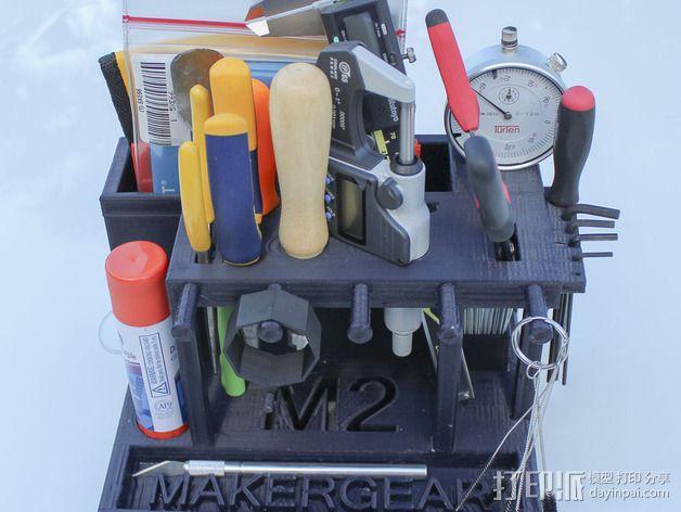 Makergear M2 打印机工具架 3D模型  图3