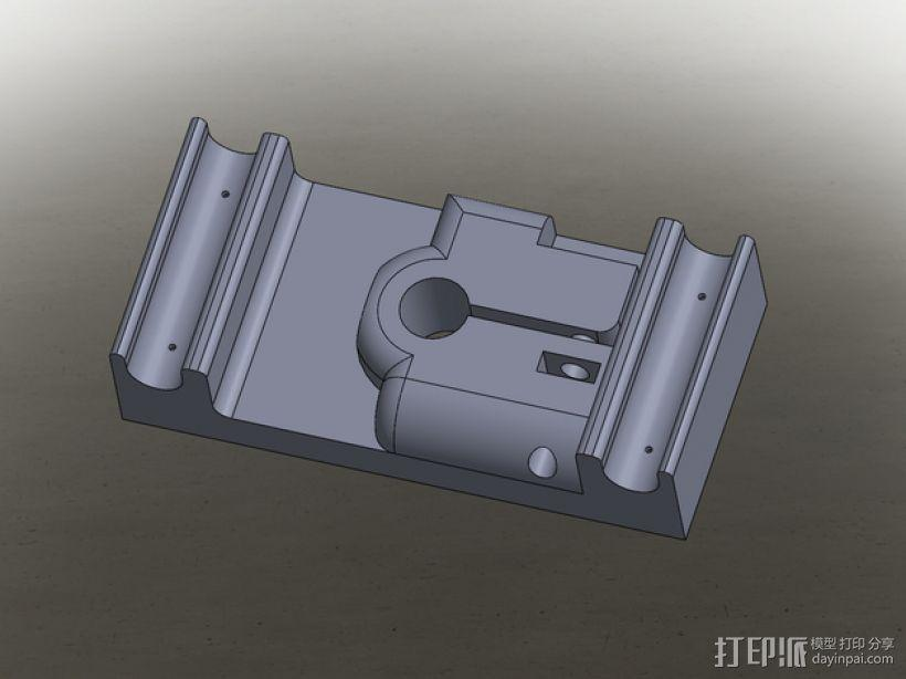 MakerBot打印机指示器固定架 3D模型  图1