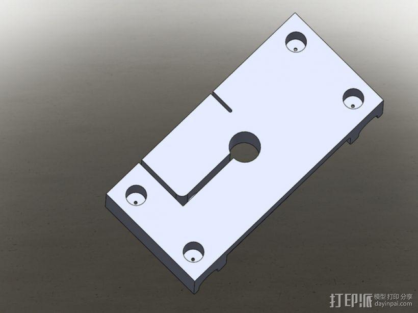 MakerBot打印机指示器固定架 3D模型  图5