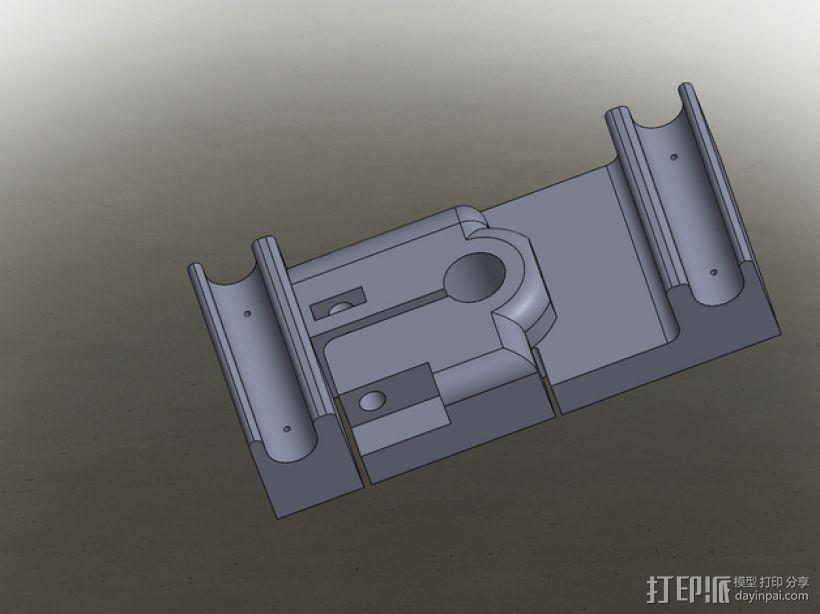 MakerBot打印机指示器固定架 3D模型  图3