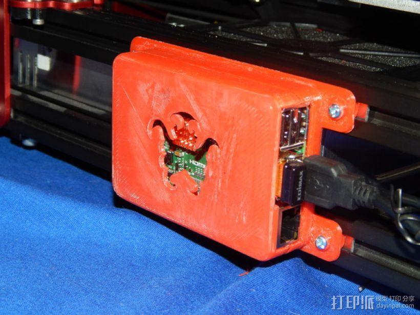 树莓派保护外盒 3D模型  图1