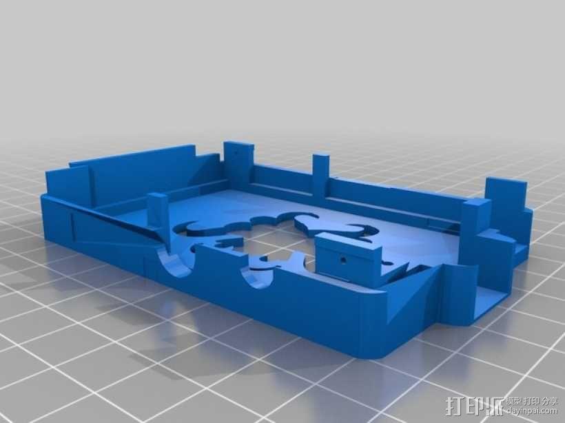 树莓派保护外盒 3D模型  图3