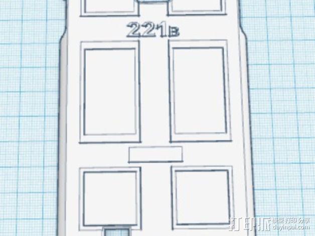 贝克街221号 三星S4手机外壳 3D模型  图1
