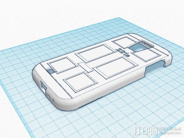 贝克街221号 三星S4手机外壳 3D模型  图4