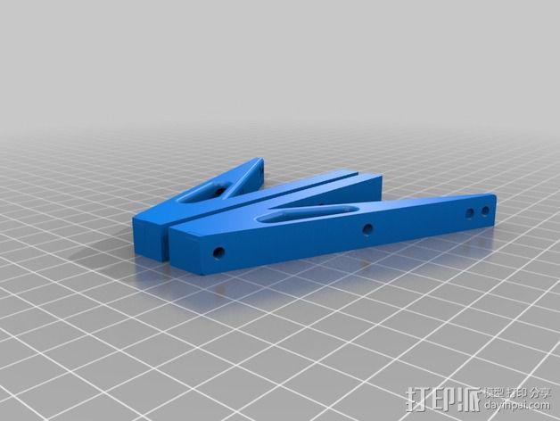 RepRap打印机控制器支撑腿 3D模型  图2
