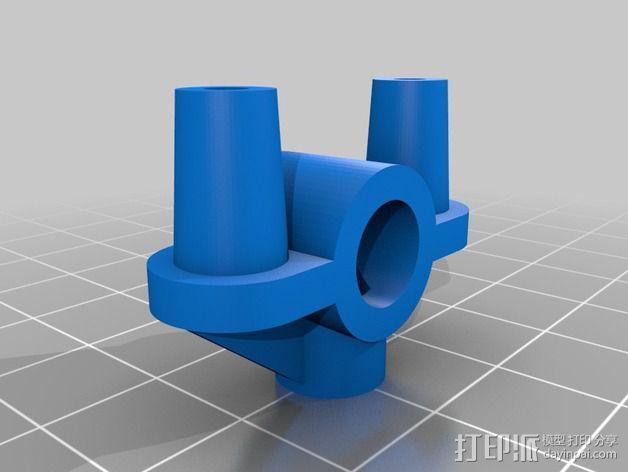 Rigidbot 打印机限位开关支座 3D模型  图4