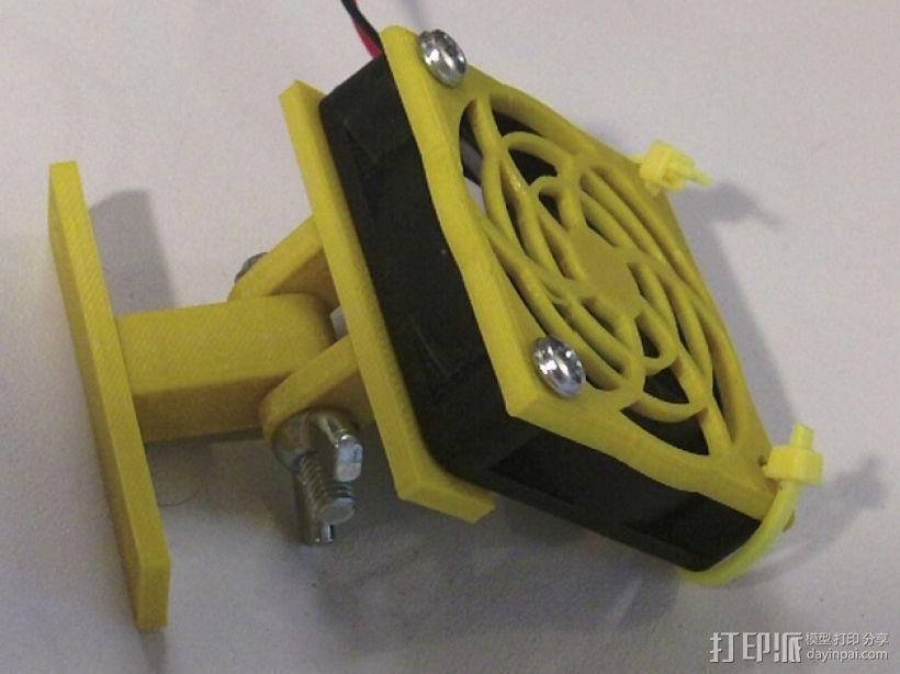 50毫米 风扇座架 3D模型  图1