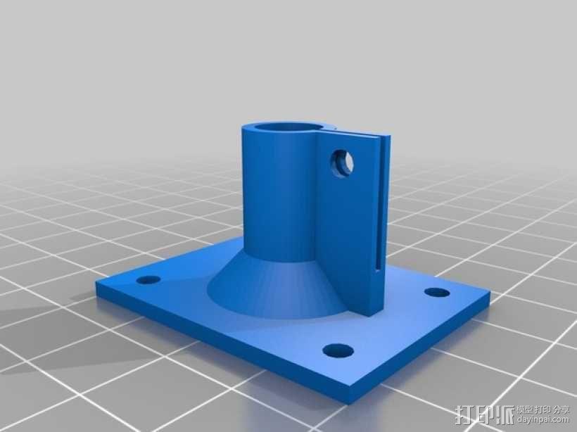轴端支架 3D模型  图2