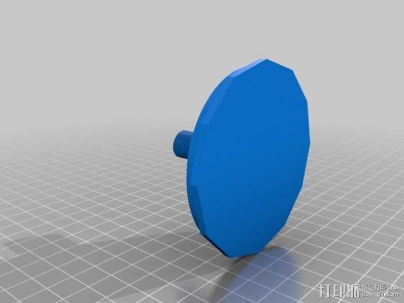 XYZ轴卷线架 3D模型  图2