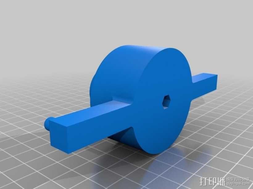 XYZ轴卷线架 3D模型  图3