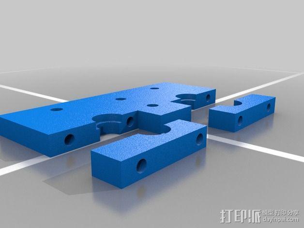 RigidBot 打印机喷头座 3D模型  图2