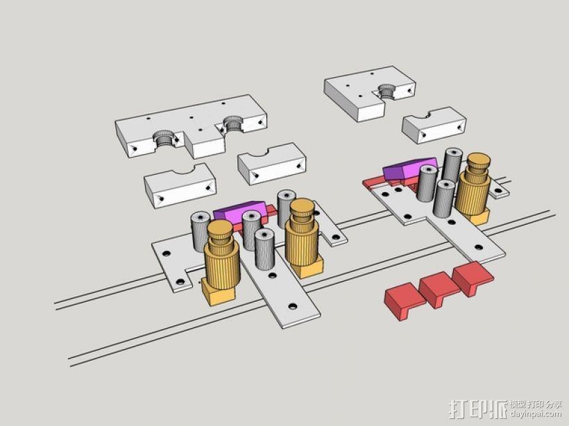 RigidBot 打印机喷头座 3D模型  图1