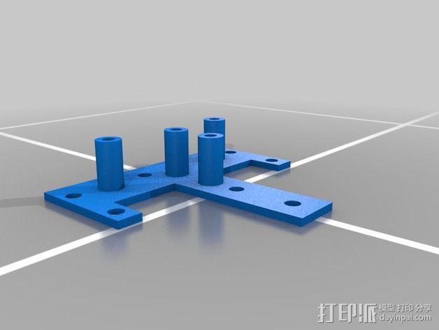 RigidBot 打印机喷头座 3D模型  图3