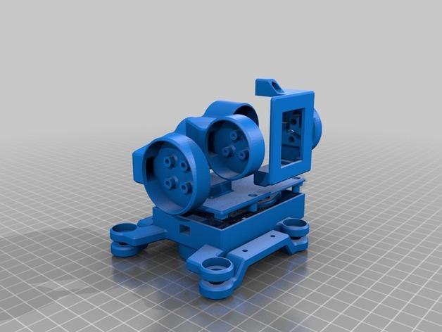 GoPro Hero3/3+打印机万向接头 3D模型  图2