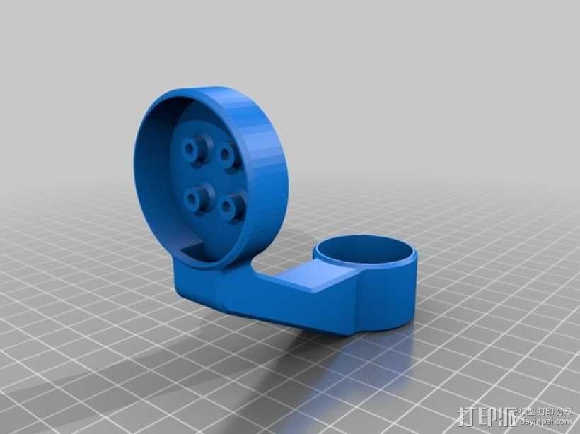 GoPro Hero3/3+打印机万向接头 3D模型  图7