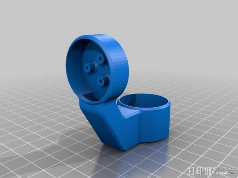 GoPro Hero3/3+打印机万向接头 3D模型  图6