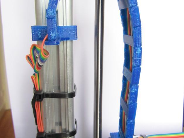 K8200打印机Z轴导缆链 3D模型  图2