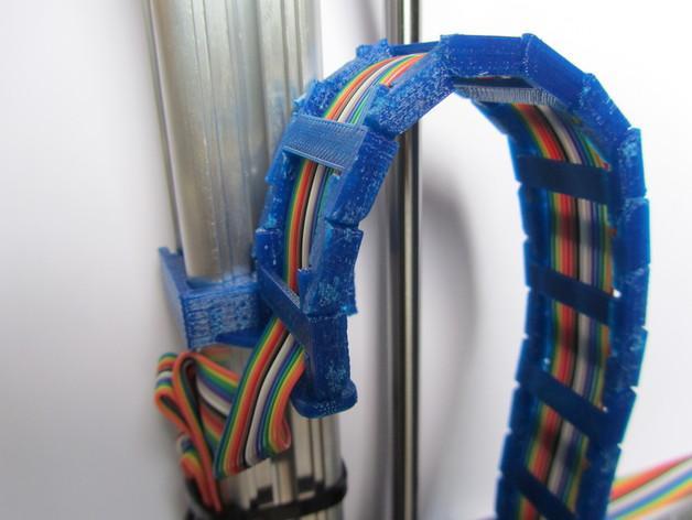 K8200打印机Z轴导缆链 3D模型  图1