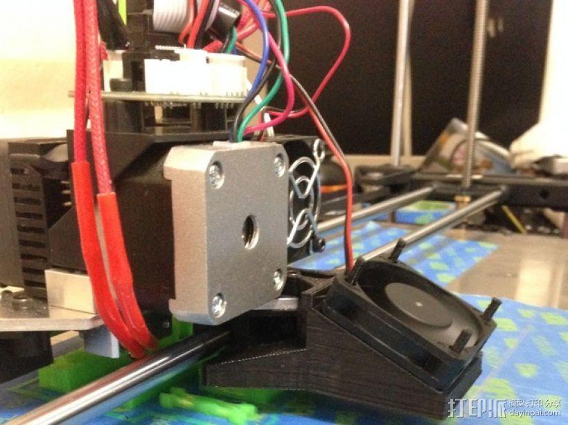 Rigidbot双挤出机风扇座 3D模型  图1