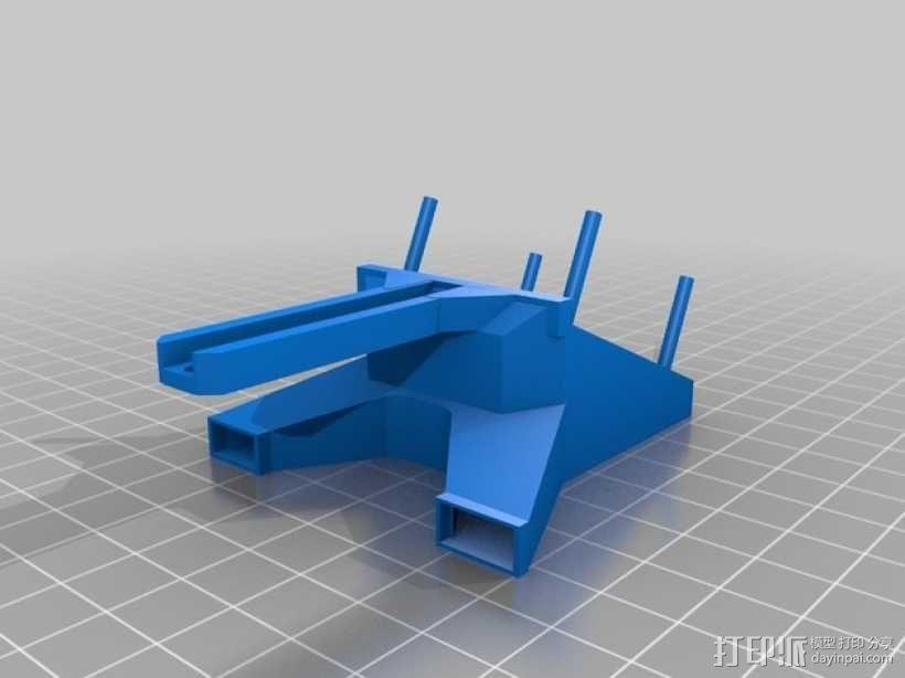 Rigidbot双挤出机风扇座 3D模型  图2