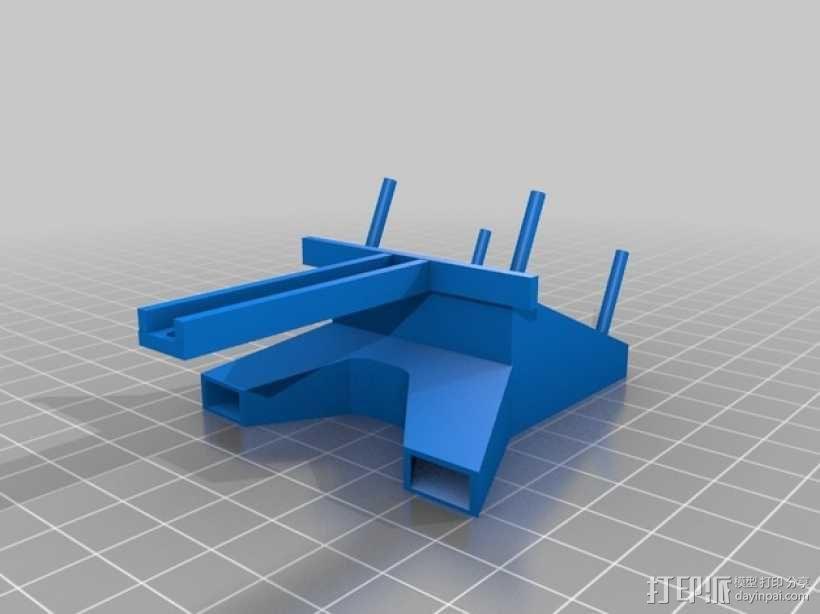 Rigidbot双挤出机风扇座 3D模型  图4