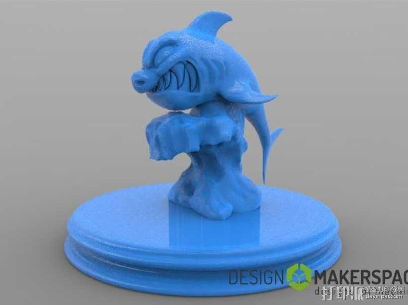 进击的鲨鱼 3D模型  图1