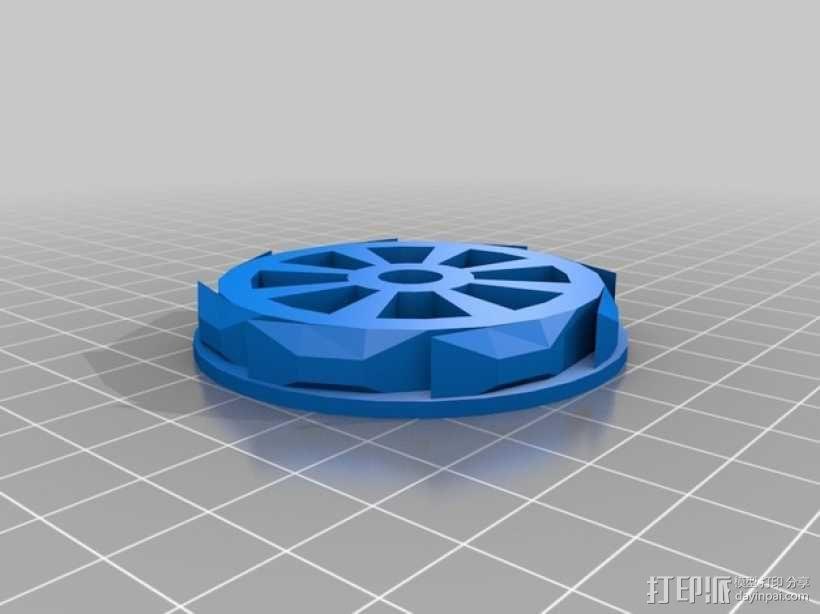 Rigidbot打印机内嵌式线轴架 3D模型  图2