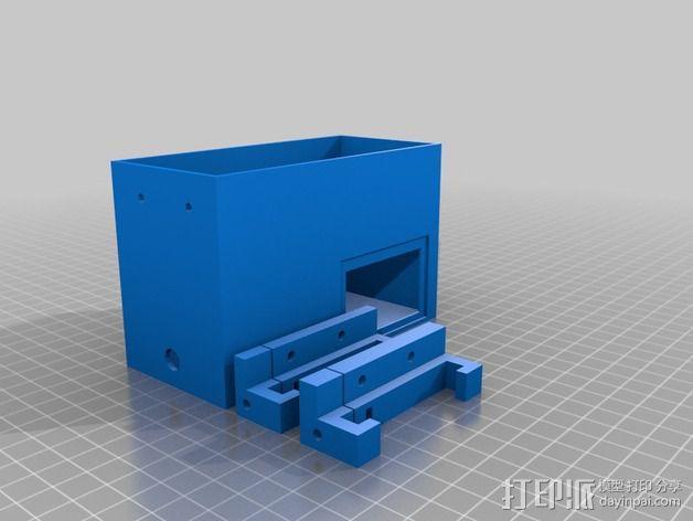 Prusa i3 打印机电源保护盒 3D模型  图2