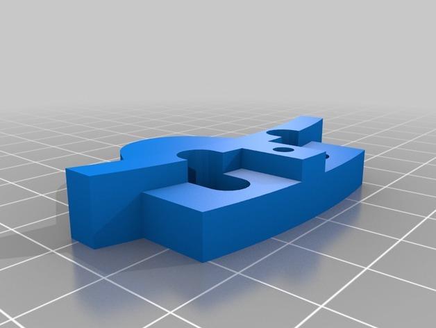Mini Kossel 打印机玻璃板支架 3D模型  图3
