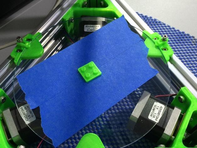 Mini Kossel 打印机玻璃板支架 3D模型  图2