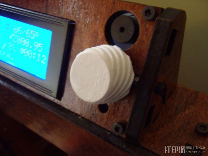 Makerfarm Prusa i3v 打印机控制器旋钮 3D模型  图1