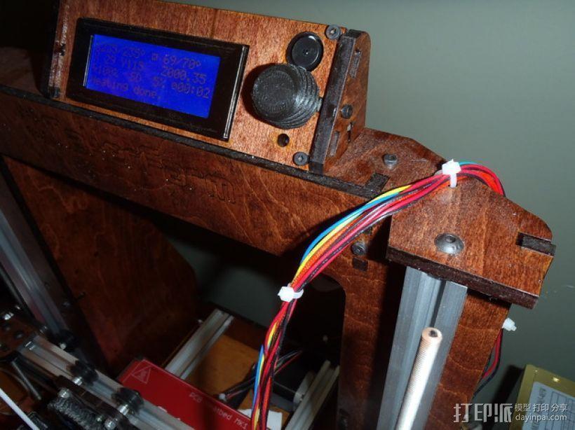 Makerfarm Prusa i3v 打印机控制器旋钮 3D模型  图3