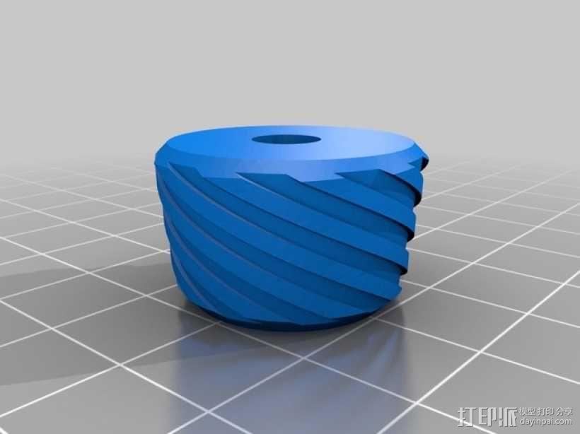Makerfarm Prusa i3v 打印机控制器旋钮 3D模型  图4