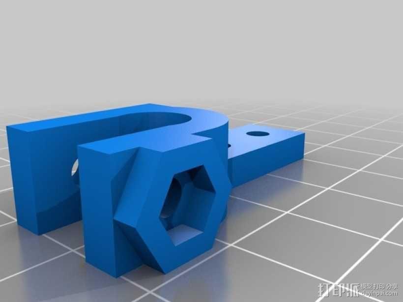 Prusa i3打印机可旋转限位开关 3D模型  图2