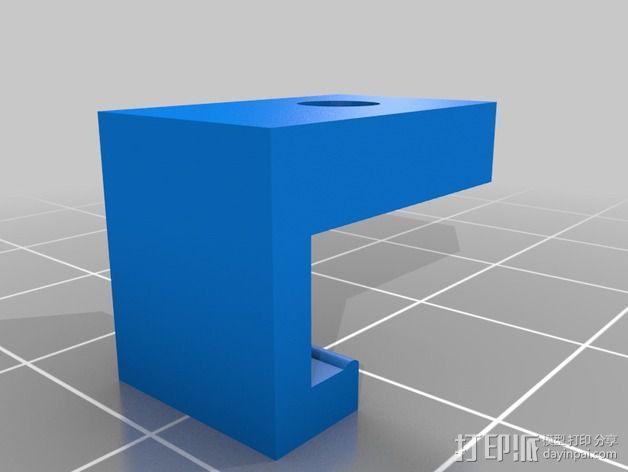 M3螺母夹 3D模型  图2