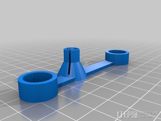 Printrbot打印机Z轴固定器 3D模型  图2