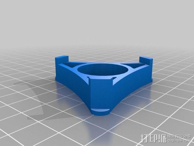 Printrbot打印机线轴架 3D模型  图2