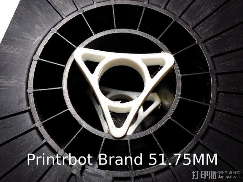 Printrbot打印机线轴架 3D模型  图1