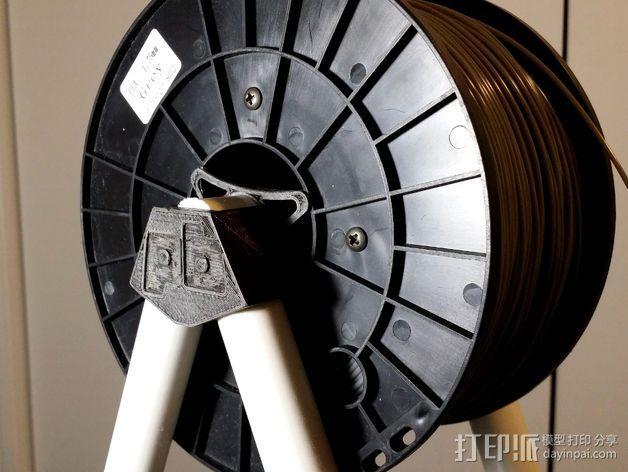 Printrbot打印机线轴架 3D模型  图3
