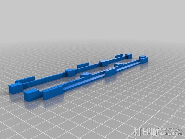 打印机玻璃框 3D模型  图2